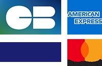 paiement par carte bancaire : CB, Visa, Mastercard, American Express
