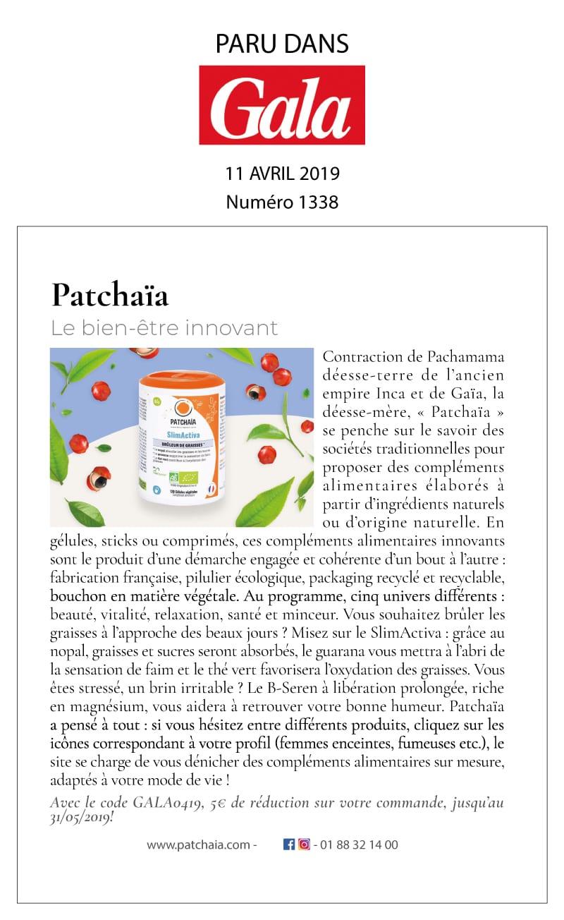 Patchaïa : Gala 1348 le bien être innovant